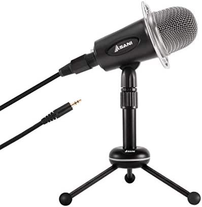 Condenser Microphone for Computer with Tripod Mic Stand Plug and Play on Windows Mac iPhone product image