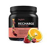 Legion Recharge Post Workout Supplement - All Natural Muscle Builder & Recovery Drink with Micronized Creatine Monohydrate. Naturally Sweetened & Flavored, Safe & Healthy. Fruit Punch, 60 Serving