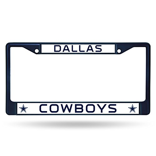 NFL Rico Industries Standard Chrome License Plate Frame, Dallas Cowboys Chrome Dallas Cowboys Frame
