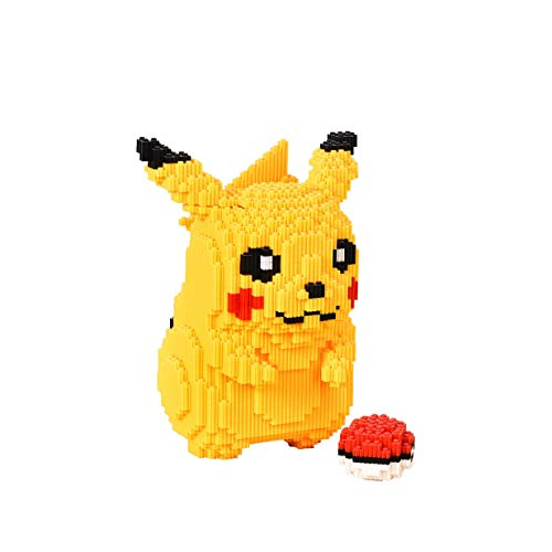 VSUK Bloques De Construcción Personaje De Anime Juego De Pikachu Bloques De Construcción 5210+PCS Mini Bloques Nano Juguetes De Bricolaje, Rompecabezas 3D Juguetes Educativos De Bricolaje
