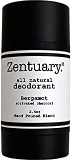 Zentuary Aluminum-Free Natural Deodorant (Bergamot w/Activated Charcoal) It Works All Day! | Nothing Bad, Only All-Natural Ingredients | Naturally Eliminate Underarm Order | Good For All Humans
