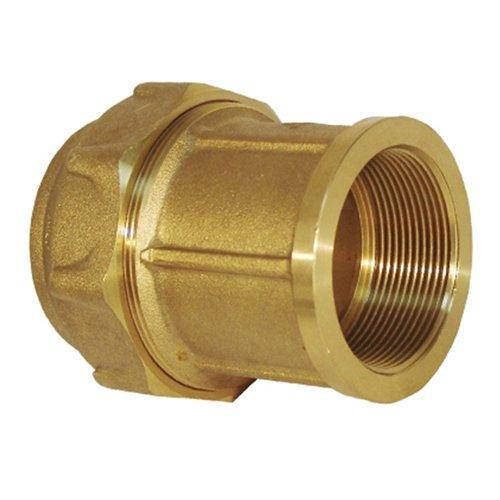 Rc Junter 44063 Enlace Hembra latón, 63 mm, Dorado, 9.5x8x8