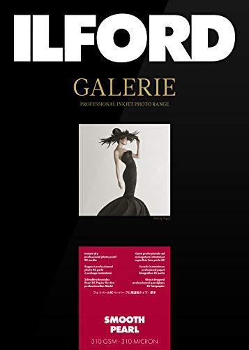 Ilford Galerie Prestige Smooth Pearl - Carta fotografica, formato A3, 310 g/m2, 25 fogli, superficie effetto perlato, bianco