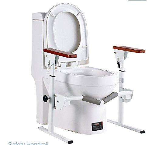 XIN Main Courante De Toilette Sans Obstacles, Adaptée Pour Les Femmes Âgées Handicapées 64 * 66cm