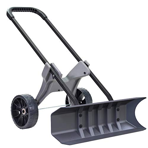Power Dynamics 30 Inch SnoDozer Rolling Snow Shovel on Wheels - Made in USA Foldable for Easy...