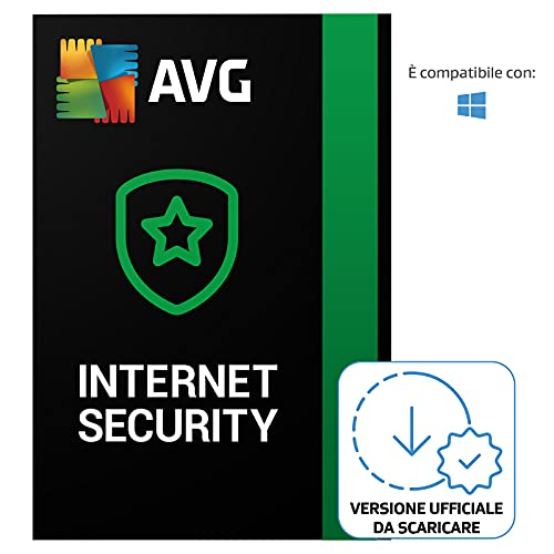 AVG Internet Security - Protezione antivirus | 1 Dispositivo | 1 Anno | PC | Codice d'attivazione per PC via email