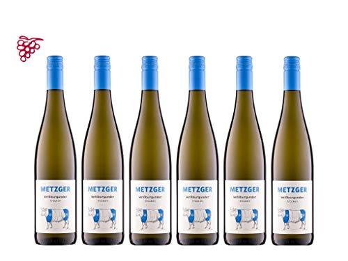 6 er Vorteilspaket Weißburgunder 2019 | Weingut Uli Metzger | Pfalz | 6 x 0,75 l
