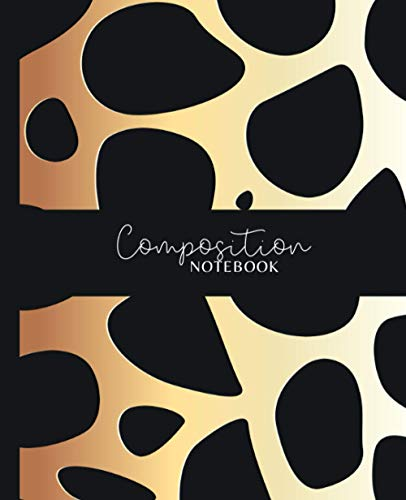 Composition Notebook: Geometric Leopard Animal Print College Ruled Lined Paper Notebook Journal | Workbook for Girls Teens Kids Students Adults ... Middle High School Writing Notes Journal