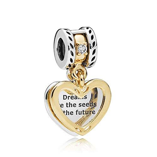 LYDXD Fit Pandora Bracelet 925 Sterling Silver Charm Bead Seeds of The Future Mujeres Brazalete DIY Regalo De La Joyería