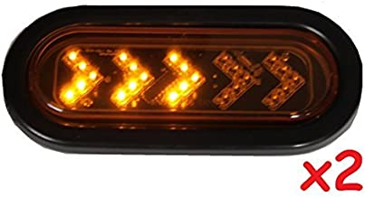 Radiant 2 Amber Sequential Oval LED Light Sealed 6 7/16