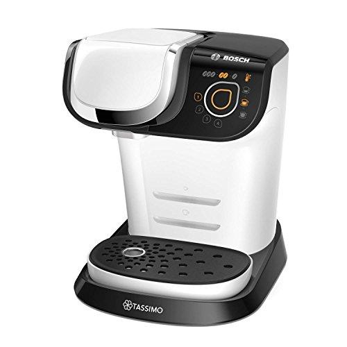 Bosch TAS6004GB Tassimo My Way White Cappuccino Espresso Pod Machine 1300 Watts, 40 x 31.2 x 26.6 cm