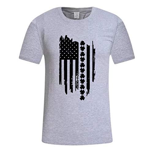 Polo Hommes Camouflage Impression Tees Chemise T-Shirt à Manches Courtes Coton Fitness Les Sports Slim fit Décontracté Chemisier