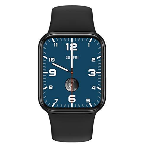 YDL COBRAFLY IWO HW12 Smart Watch 1.57 Pulgadas Pantalla Completa 40mm 3D Dynamic Ui Bluetooth Call Largo Standby Watch 6 Hombres Mujeres PK Iwo (Color : Black, Size : HW16 44MM 1.72inch)