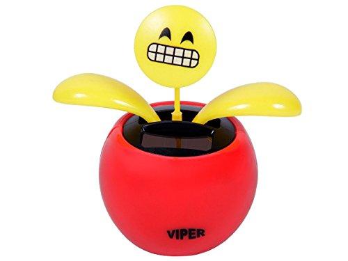 Figurine smiley dansant se balance à l'énergie solaire type Nohohon Emoji émoticônes balancier déco voiture maison terrasse jardin idée cadeau décoratif flip swin original, choisir:SB-35 Emoticon sourire forcé