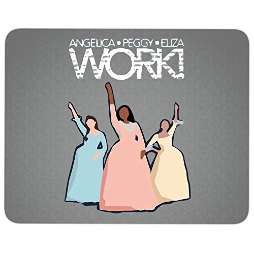 Alexander Hamilton Musical Premium-Textured Mouse pad, Angelica Eliza Peggy Work Mouse Pad for Home, Office, Game, Computer, Laptop (Mouse Pad - Dark Gray)