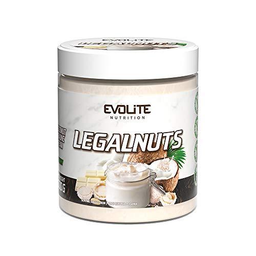 Evolite Nutrition Legalnuts - 500g - Burro Sano - Crema Proteica - Crema Spalmabile Aromatizzata senza zucchero e olio di palma (Crema di cocco)