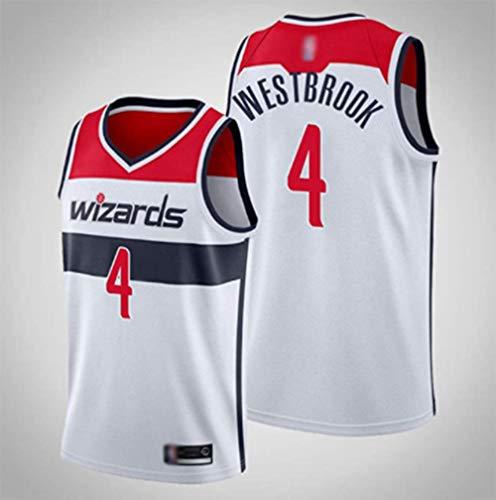 rzoizwko Gym Quick, Camisetas de la NBA de Baloncesto, Camiseta de la NBA Washington Wizards 4# Russell Westbrook - Chaleco Suelto de Baloncesto de Secado
