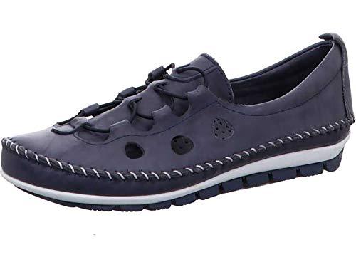 Gemini 003115-01 Schuhe Damen Ballerina Slipper Mokassins, Schuhgröße:38 EU, Farbe:Blau