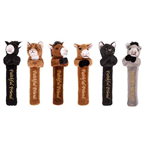 Faithful Friends The Collectables Cute & Cuddly - Marcapáginas de peluche (6 unidades), diseño de animales