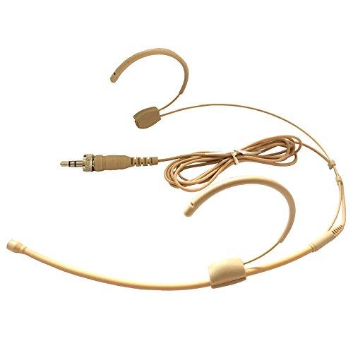 Microdot 4015micrófono cámara micrófono inalámbrico de cabeza para Sennheiser inalámbrico sistema 3,5mm rosca conector de bloqueo-Mic Omidirectional
