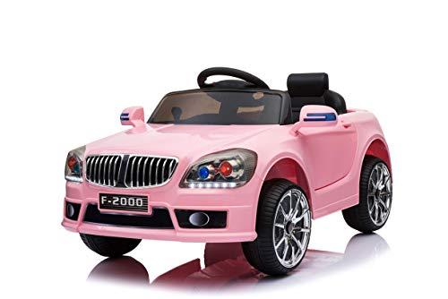 Toyas B-Sport Kinderfahrzeug Elektrofahrzeug Kinder Elektroauto mit Fernbedienung Pink