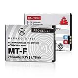 Wicked Chili Akku kompatibel mit AVM Fritz!Fon C5 / C4 / M2 / MT-F/Motorola MOTOFONE F3 / EM325 / M325 / EM25 - Ersatz-Akku für: AVM 312BAT016, 312BAT006, 312BAT006CS-FVM446CL - 750mAh...