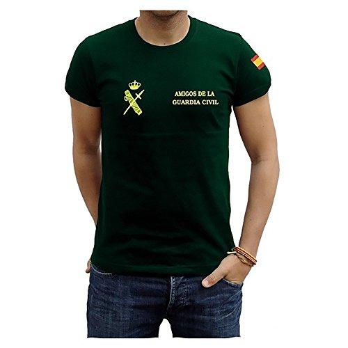 Piel Cabrera Camiseta Amigos de la Guardia Civíl (M, Negro)