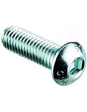 4mm Botón Pernos de Cabeza/Tornillos (Paquete de 10) M4 X 5mm A2 Acero Inoxidable Enchufe Llave Allen Cabeza Doma Perno