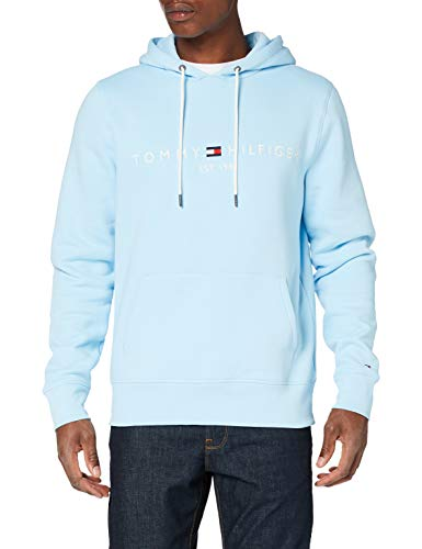 Tommy Hilfiger Herren Tommy Logo Hoody Pullover, Blue, X-Large