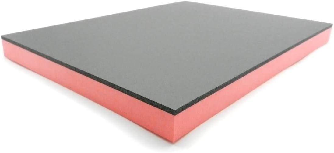 Bandeja para herramientas de espuma dura para carro de herramientas, color negro y rojo, de 20 a 35 mm de grosor (330 x 430 x 30 mm)