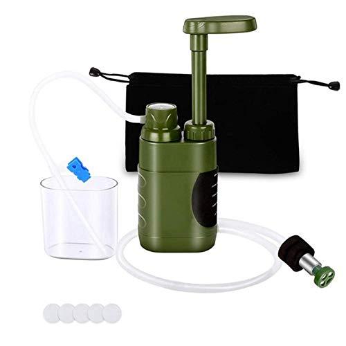 Filtro de agua portátil para camping, senderismo, pesca, emergencias, supervivencia, sistema de filtro de agua