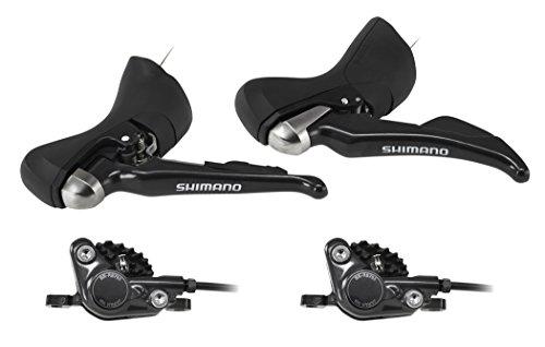 Shimano ST-R685-R - Frenos disco - rueda trasera y rueda delantera negro...