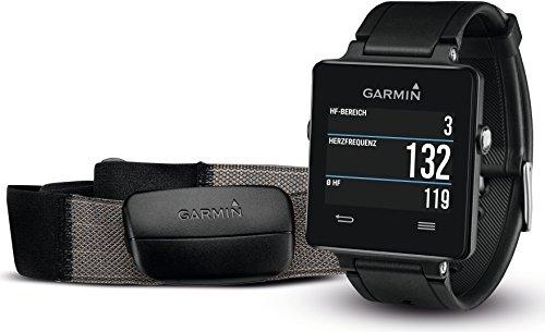 Garmin Unisex Sport GPS-Smartwatch vívoactive inkl. Herzfrequenz-Brustgurt, 3 Wochen Batterielaufzeit