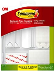Command Picture Hanging Kit (50 Pieces), Damage-Free Hanging, Hangs up to 15 Pictures