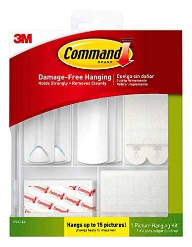 Command 17213-ES Kit Hangs up to 15 Pictures, Large, White