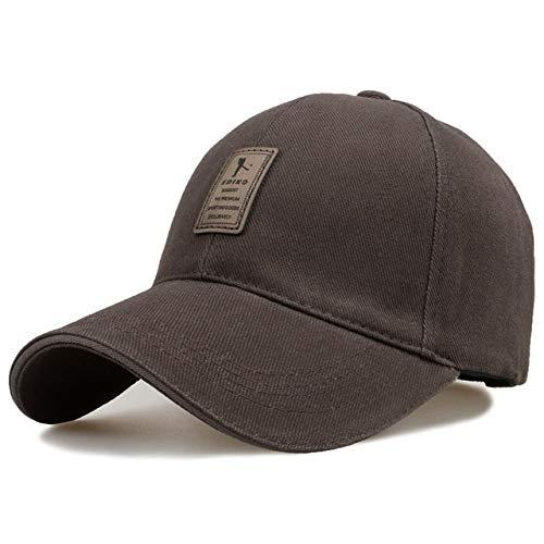 Gorra de béisbol Ajustable para Hombre Sombreros Casuales de Ocio Sombreros de Moda para niño Snapback-Coffee-Adjustable