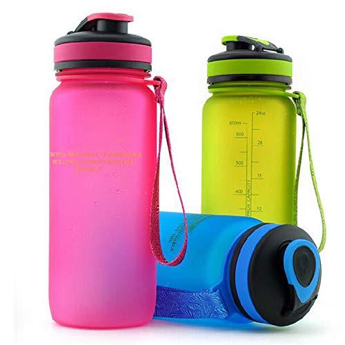 CGMZN Wasserglasbeutel Bouteille en Plastique Portable de bouteille de secoueur de bouilloire de Sport en Plastique disponible de Couleur Quatre Couleurs 650ml ou 1000ml
