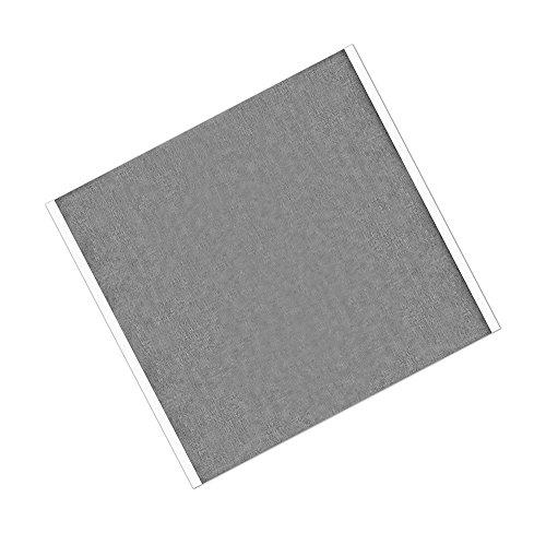 TapeCase 420 - Cinta adhesiva de plomo y caucho de color plateado oscuro, 21,59 cm x 3,81 cm - 25 cm de largo, 22 cm de ancho, rectangulares (paquete de 25)