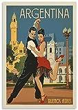 BABALQZU Vintage Poster Argentinien City Poster Buenos