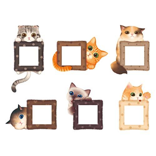 VOSAREA 12 Stück Lichtschalter Wandaufkleber süße Katze Lichtschalter Abziehbilder Dekoration