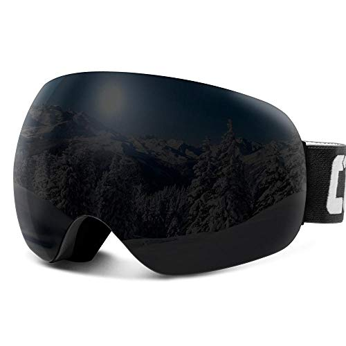 Generieke skibrillenantifog skibril sferische frameloze skibril snowboard-skibril 100% Uv400-bescherming anti-slip band voor mannen vrouwen