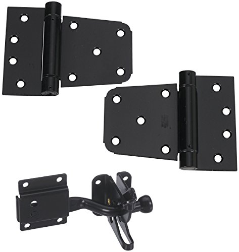 National Hardware N343-475 Self-Closing Gate Kit, 0, Black