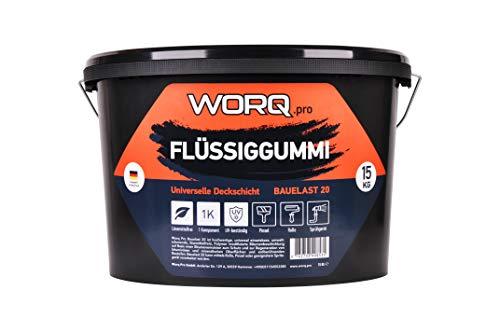 Flüssiggummi 15 KG- Flachdachabdichtung, Dachabdichtung, Dachsperre, Isolieranschtrich, Dachanstrich, Bitumenanstrich