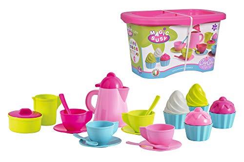 Simba 478008 107102626 - Cupcake Service, 24 Teile, Kanne 13cm,Sandkasten, Sandspielzeug