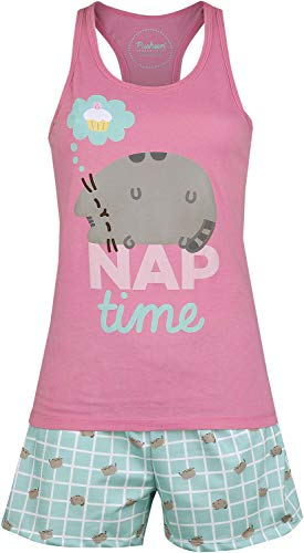 Pusheen Nap Time Frauen Schlafanzug Multicolor M 100% Baumwolle Fan-Merch, Katzen
