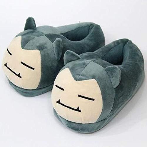 FENGHU Pokemon Hausschuhe Kinder Erwachsene Mit Heeled Baumwolle Schuhe Baumwolle Hausschuhe Herbst Und Winter Süße Cartoon Pikachu Warme Schuhe Eltern-Kind-Paar