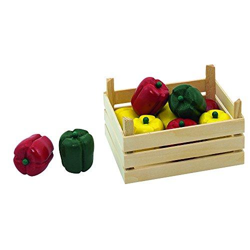 Goki 51675 - Kaufläden und Zubehör - Paprikaschoten, Gemüsekiste