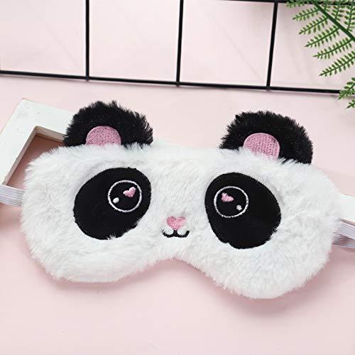 Macabolo Süße Einhorn Panda weiche Plüsch schlafen Maske Frauen Mädchen Kinder Schlaf Maske Augenmaske für Travel Home Party