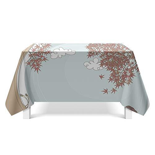 DREAMING-Frische Einfache Zeichnung Kunst Tischdecke Home Tischdecke Tv-Schrank Couchtisch Tuch Runden Tisch Tischset 85cm * 85cm