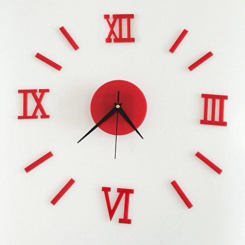 Digitale Spiegeluhr Wanduhr Uhr Freizeit Arbeitszimmer Schlafzimmer Wand Wasserdicht 1369